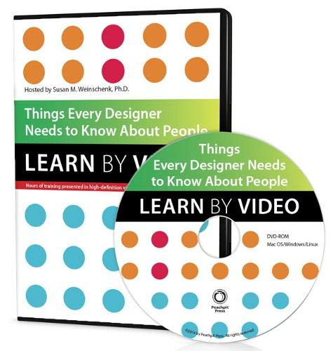 Things Every Designer Needs to Know about People Format: DvdRom: Weinschenk, Susan