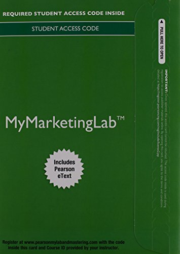 9780133840636: MyMarketingLab with Pearson eText -- Component Access Card (1 semester access) (2017)
