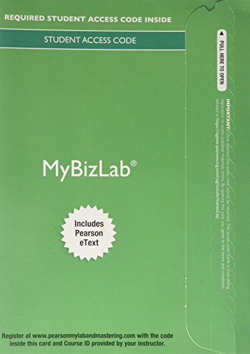 9780133840643: MyBizLab with Pearson eText -- Component Access Card (1 semester access) (2017)