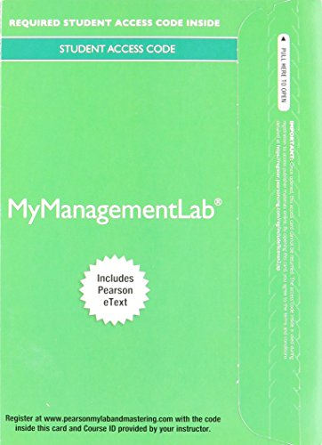 9780133840667: MyManagementLab with Pearson eText -- Component Access Card (1 semester access) (2017)