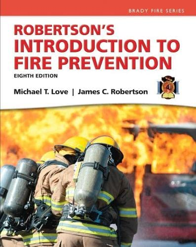 9780133843279: Robertson's Introduction to Fire Prevention (8th Edition) (Brady Fire)