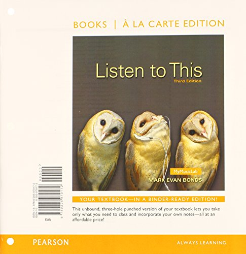 Listen to This, Books a la Carte: Bonds PhD, Mark