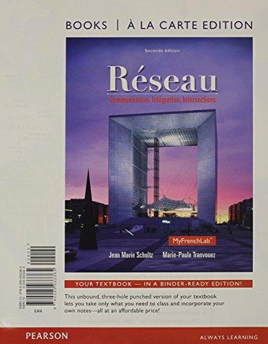 9780133844757: Réseu: Communication, Intération, Intersections, Books a la Carte Plus MyLab French (multi-semester access) -- Access Card Package (2nd Edition)