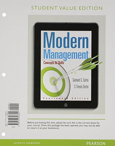 9780133846645: Modern Management: Concepts and Skills, Student Value Edition (14th Edition)