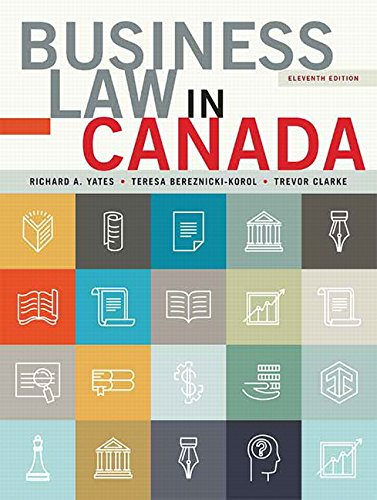 9780133847130: Business Law in Canada, Eleventh Canadian