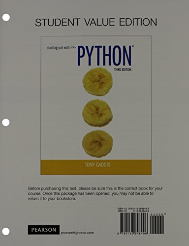 starting out with python 3rd edition