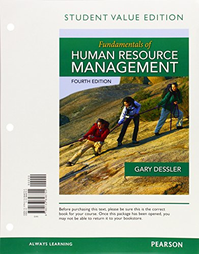 9780133848755: Fundamentals of Human Resource Management, Student Value Edition (4th Edition)
