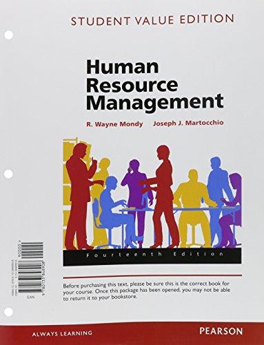 Human Resource Management, Student Value Edition: Mondy, R. Wayne; Martocchio, Joseph J.