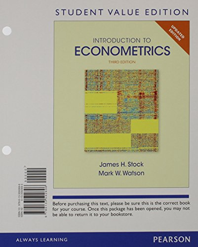 9780133848915: Introduction to Econometrics, Update, Student Value Edition Plus NEW MyLab Economics with Pearson eText -- Access Card Package (3rd Edition)