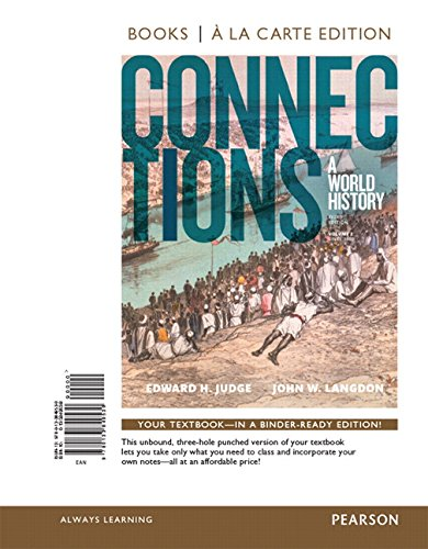 9780133849530: Connections: A World History, Volume 2, Books a la Carte Edition (3rd Edition)
