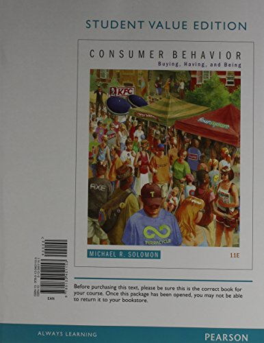 9780133849615: Consumer Behavior: Buying, Having, and Being, Student Value Edition Plus 2014 MyMarketingLab with Pearson eText -- Access Card Package (11th Edition)
