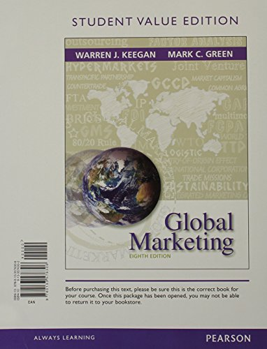9780133849639: Global Marketing, Student Value Edition Plus 2014 MyMarketingLab with Pearson eText -- Access Card Package (8th Edition)