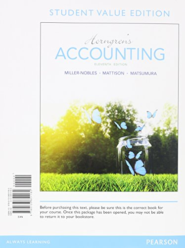 9780133851182: Horngren's Accounting, Student Value Edition (11th Edition)