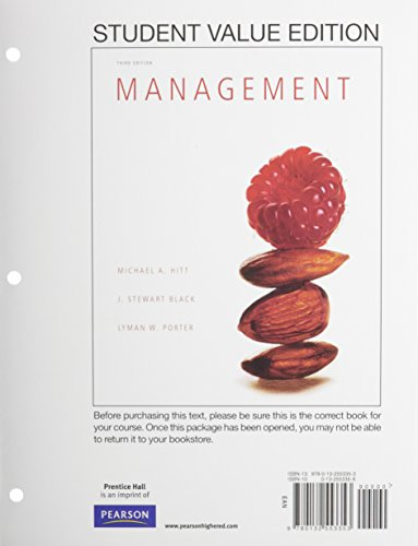9780133853230: Management, Student Value Edition Plus 2014 MyLab Management with Pearson eText -- Access Card Package (3rd Edition)