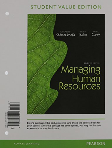 9780133853247: Managing Human Resources, Student Value Edition Plus 2014 Mymanagementlab with Pearson Etext -- Access Card Package