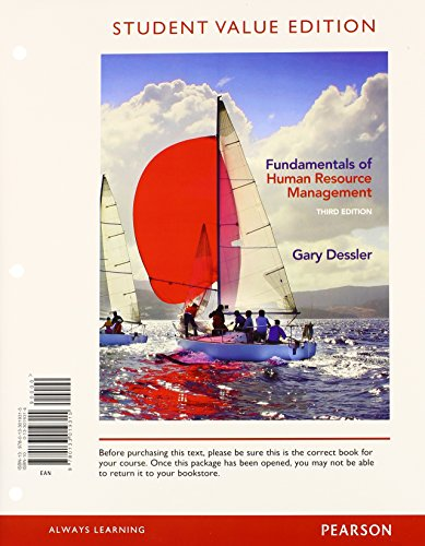 Fundamentals of Human Resource Management, Student Value: Gary Dessler