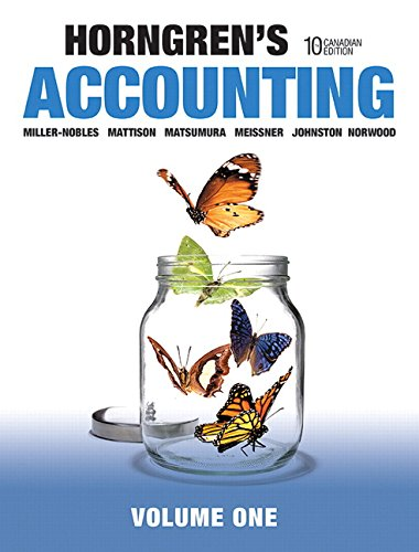 9780133855371: Accounting, Volume 1, Tenth Canadian Edition,