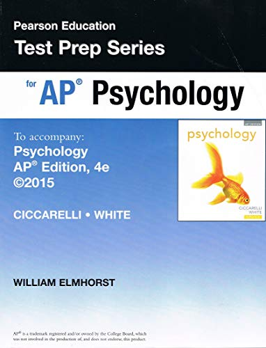 9780133856088: Person Education Test Prep Series for Ap Psychology for Psychology Fourth Edition Ap Edition