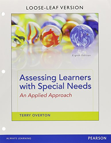 9780133856415: Assessing Learners with Specials Needs: An Applied Approach (Loose Leaf)