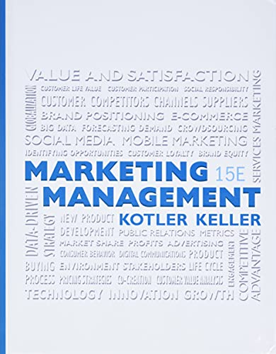 9780133856460: Marketing Management (15th Edition)