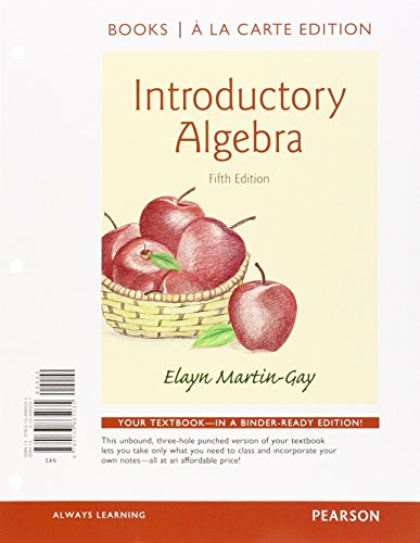 Introductory Algebra a la Carte Edition Plus NEW MyMathLab with Pearson eText -- Access Card ...