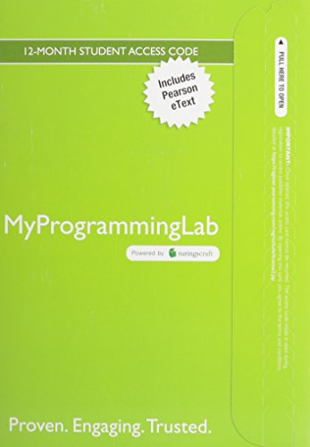 9780133860771: MyLab Programming with Pearson eText--Access Code Card--for Java: An Introduction to Problem Solving and Programming