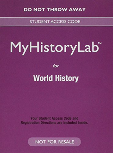 9780133861884: NEW MyLab History for World History -- Valuepack Access Card