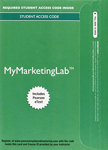 9780133862096: MyLab Marketing with Pearson eText - Access Card - for Principles of Marketing