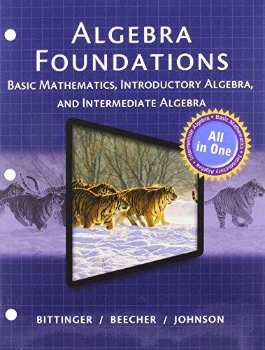 Algebra Foundations: Basic Math, Introductory and Intermediate: Beecher, Judith A.,