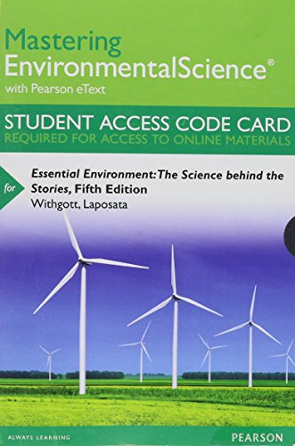 9780133863802: Masteringenvironmentalscience with Pearson Etext -- Standalone Access Card -- For Essential Environment: The Science Behind the Stories