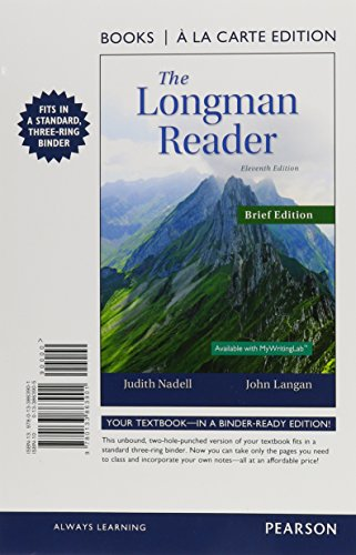9780133863901: The Longman Reader, Brief Edition, Books a la Carte Edition (11th Edition)