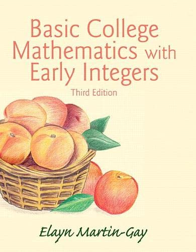 9780133864717: Basic College Mathematics with Early Integers (3rd Edition)