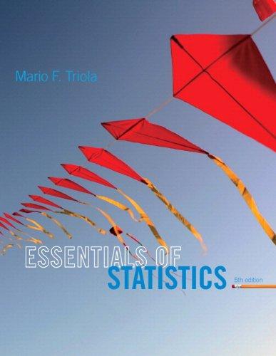 Essentals Of Statistics: Triola Mario F.
