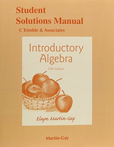 9780133865172: Student's Solutions Manual for Introductory Algebra