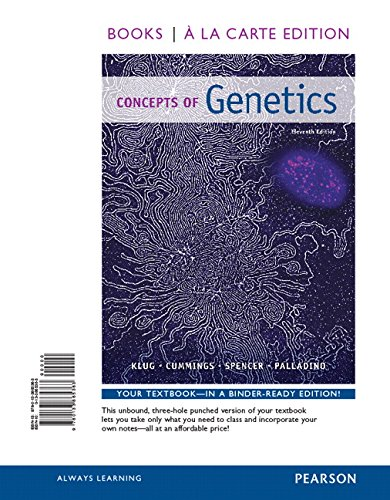 9780133865363: Concepts of Genetics (Books a la Carte)