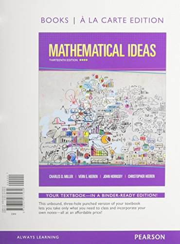 9780133865462: Mathematical Ideas, Books a la Carte Edition plus NEW MyLab Math with Pearson eText -- Access Card Package (13th Edition)