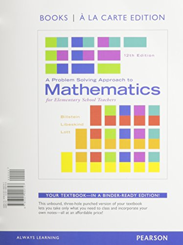 9780133865479: A Problem Solving Approach to Mathematics for Elementary School Teachers, Books a la Carte Edition plus NEW MyLab Math with Pearson eText - Access Card Package (12th Edition)