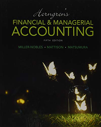 9780133866292: Horngren's Financial & Managerial Accounting (5th Edition)