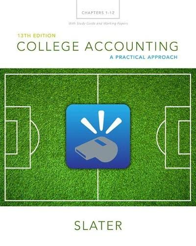 9780133866308: College Accounting Chapters 1-12 with Study Guide and Working Papers (13th Edition)