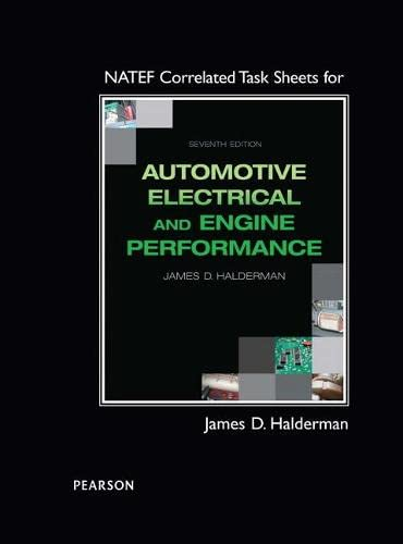 Natef Correlated Task Sheets For Automotive Electrical And Engine Performance 7 ed