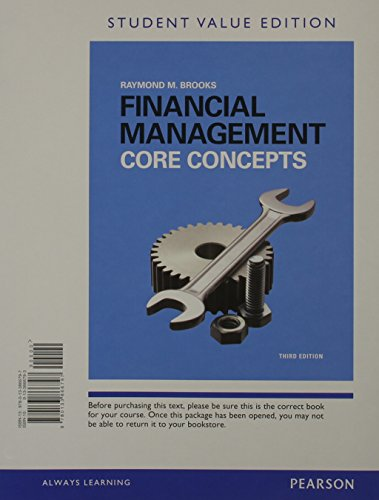 9780133866797: Financial Management: Core Concepts Student Value Edition (3rd Edition) (Pearson Series in Finance)