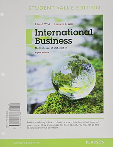 9780133867930: International Business: The Challenges of Globalization, Student Value Edition (8th Edition)