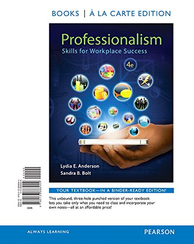 9780133868944: Professionalism: Skills for Workplace Success, Student Value Edition (4th Edition)