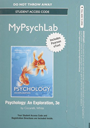 9780133869163: NEW MyLab Psychology with Pearson eText -- Standalone Access Card -- for Psychology: An Exploration (3rd Edition)