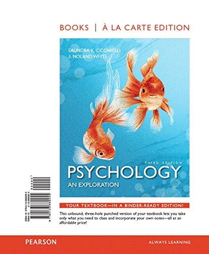 9780133869255: Psychology: An Exploration, Books a la Carte Edition (3rd Edition)