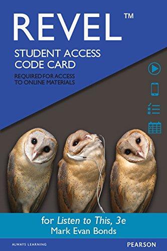 REVEL for Listen to This -- Access: Bonds PhD, Mark