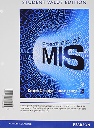 9780133869972: Essentials of MIS, Student Value Edition Plus 2014 MyMISLab with Pearson eText -- Access Card Package (11th Edition)