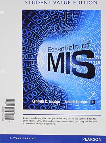 Essentials of MIS Student 2014 MIS (11th)