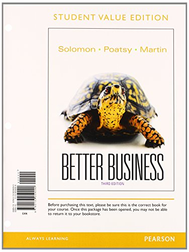 9780133870404: Better Business, Student Value Edition Plus 2014 MyBizLab with Pearson eText -- Access Card Package (3rd Edition)