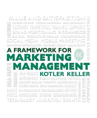 9780133871319: Framework for Marketing Management (6th Edition)